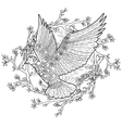 Flying dove with high details vector image