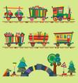 kid train railroad baby cartoon toy or vector image