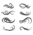 tattoo style flourishes vector image