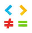 basic colorful mathematical symbols vector image vector image