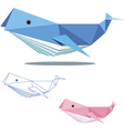 whale low polygon vector image