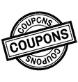 Coupons rubber stamp vector image