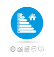 Energy efficiency icon electricity consumption vector image