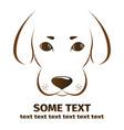 dog on white background symbol icon logo design vector image