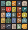 Sport line flat icons with long shadow vector image vector image