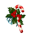 christmas sugar candy vector image