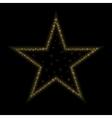 Golden star icon vector image