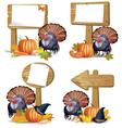 Thanksgiving turkey board vector image vector image