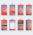 Set of of modern smartphone with apps Flat design vector image