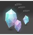 abstract crystal web vector image