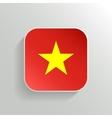 Button - Vietnam Flag Icon vector image