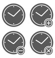 clock icon set simple vector image