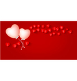 Heart balloon design for valentines day vector image