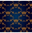 Seamless pattern with crowns vector image