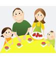 Cartoon happy family vector image