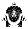 Lion with crown vector image vector image