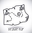 treasure map design vector image