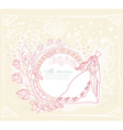 wedding dancing couple on abstract background card vector image vector image