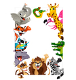 Funny group of Jungle animals vector image