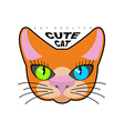 Cute cat Logo for Cat shelter emblem pet vector image