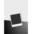 Black flyer design with polaroid photo frame vector image