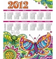 2012 floral calendar vector image vector image