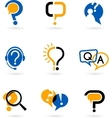 set of question mark icons vector image vector image