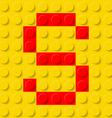 building kit of plastic Font 19 vector image