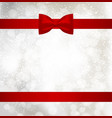 christmas background with red holiday ribbon and vector image