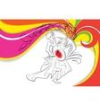 Drummer in Durga Puja vector image