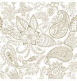 Seamless Floral Pattern for Fabric and Decoration vector image