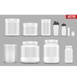 Set Mockup Sport Vitamin Containers vector image