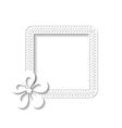 white square floral frame vector image