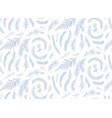 winter hand drawn seamless pattern floral design vector image