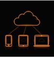 Cloud Neon Orange vector image vector image