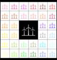 wind turbines sign  felt-pen 33 colorful vector image