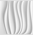 wavy silk abstract background white or vector image