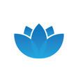 blue lotus spa logo vector image