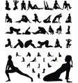 woman erotic and sporty silhouettes vector image