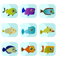 cartoon fish vector image vector image