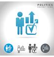 politics icon set vector image