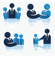 office team and successful business vector image vector image