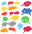 Set of colored comic style talk clouds vector image