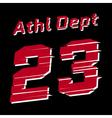 athl dept design vector image