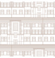 building facade seamless pattern city vector image