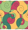 colorful spirals seamless pattern vector image