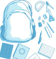 Costumizable Kits of School Bag and School vector image