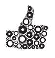 Gear Hand Icon vector image