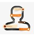 Human head infographic concept line art vector image