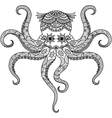 Octopus coloring vector image
